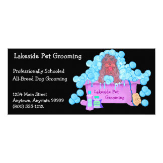 Pet Grooming Promotional Material Personalized Rack Card
