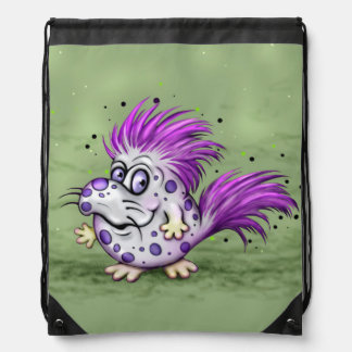 PET GROOVE MONSTER CARTOON Drawstring Backpack