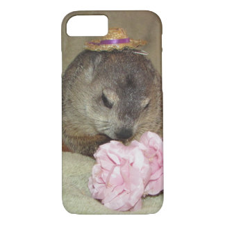 Pet Groundhog Clara with Flower iPhone 8/7 Case