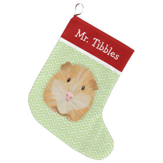Pet Guinea Pig Personalized Large Christmas Stocking