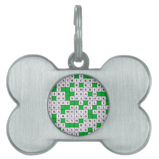 Pet ID Tag with St Patrick's Day Crossword