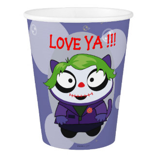 PET JOKER  CUTE CAT ALIEN CARTOON PAPER CUP