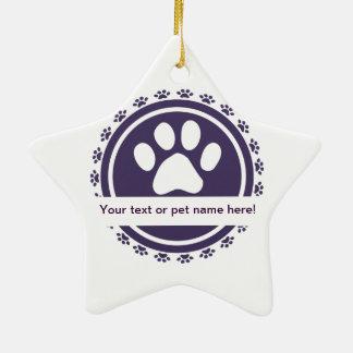 pet label ornaments