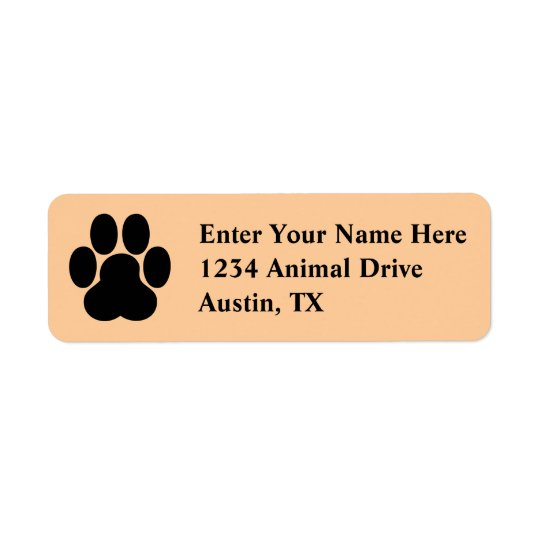 Pet Labels - Cute Paw print