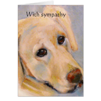 Pet Loss : female dog: sympathy card