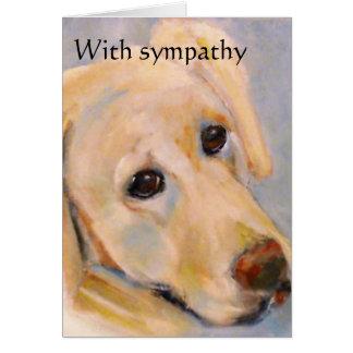 Pet loss : male dog : sympathy card