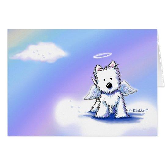 Pet Loss Sympathy Westie Angel Card