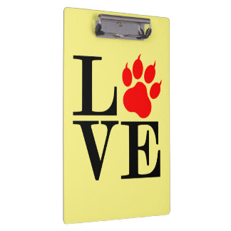 Pet Lover Paw Clipboard