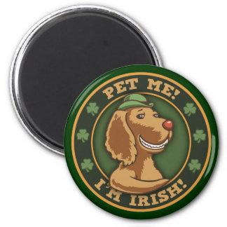Pet Me! I'm Irish 6 Cm Round Magnet