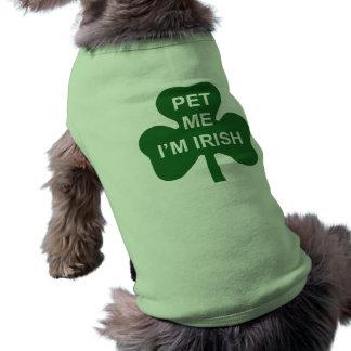 Pet Me I'm Irish St. Patrick's Day dog shirt
