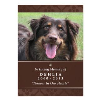 """Pet Memorial Card 5""""x7"""" Dark Brown Photo"""