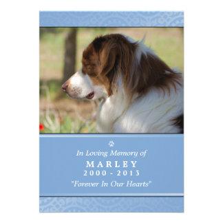 "Pet Memorial Card 5""x7"" Light Blue Photo"