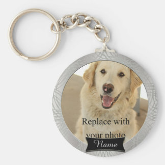 Pet Memorial Custom Photo Basic Round Button Key Ring