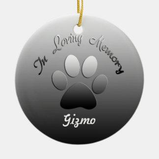 Pet Memorial Customizable Ornament