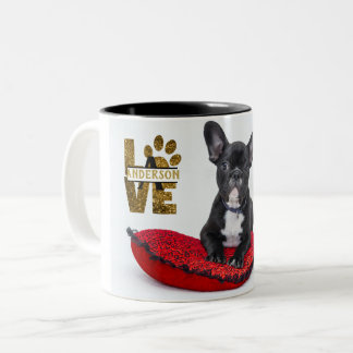 PET Memorial (Dog Cat) PHOTO Collage Gift Custom Two-Tone Coffee Mug