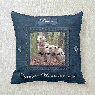 Pet Memorial - Elegant Perfect Memories Throw Pillow