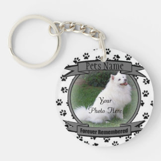 Pet Memorial - Forever Remembered - Pet Loss Double-Sided Round Acrylic Key Ring