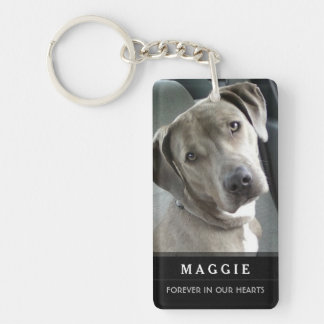 Pet Memorial God Saw Her Getting Tired Poem-Female Double-Sided Rectangular Acrylic Key Ring