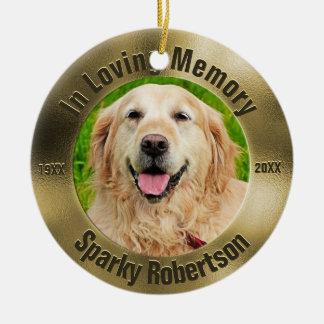 Pet Memorial Gold Ceramic Ornament
