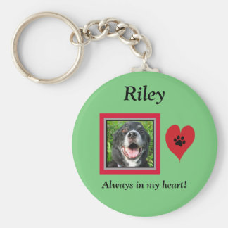 Pet Memorial Keepsake/Paw Print/Heart Key Ring