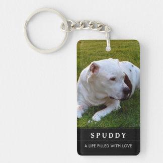 Pet Memorial KeyChain - Contented Poem