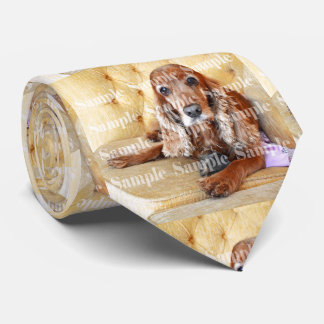 Pet memorial memory double sided image tie