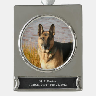 Pet Memorial Ornament | Silver, FAUX Chalkboard