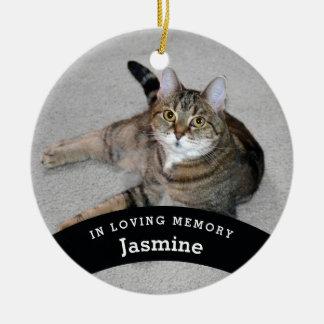 Pet Memorial Personalised Add Name and Photo Ceramic Ornament