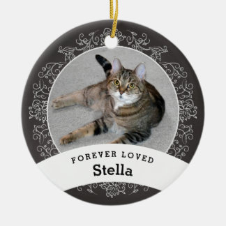 Pet Memorial Personalised Chalkboard Add Photo Ceramic Ornament