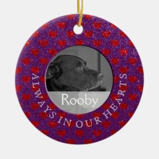 Pet | Memorial Photo In Memory Of Custom Ceramic Ornament