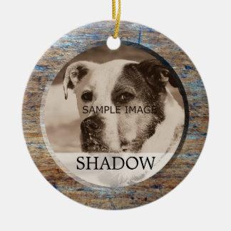 Pet Memorial Photo | In Memory Of Sympathy Ceramic Ornament