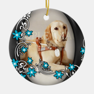 Pet memorial photo PERSONALIZE Ceramic Ornament