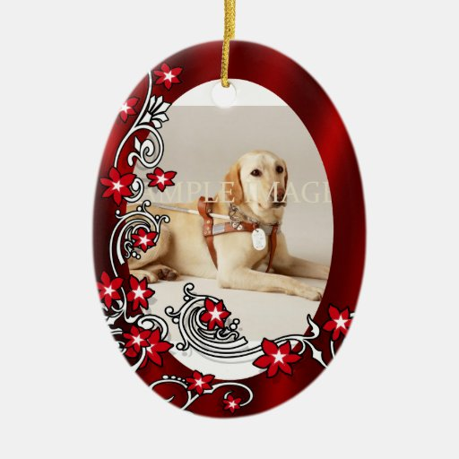 Pet memorial photo PERSONALIZE Christmas Tree Ornament