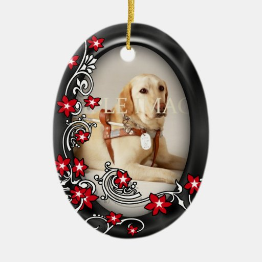 Pet memorial photo PERSONALIZE Christmas Tree Ornaments