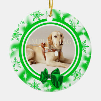 Pet memorial photo PERSONALIZE Christmas Ornament
