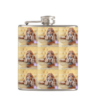 Pet memorial photo PERSONALIZE Hip Flask