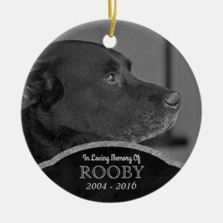 Pet Memorial Photo Personalized Dog Condolence Ceramic Ornament