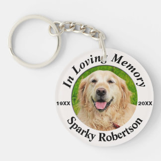 Pet Memorial Round Keychain