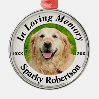 Pet Memorial Silver-Colored Round Decoration