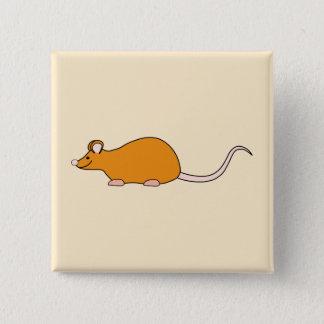 Pet Mouse. Cinnamon Color. 15 Cm Square Badge