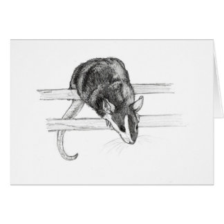 Pet mouse sketch greeting card by Nicole Janes