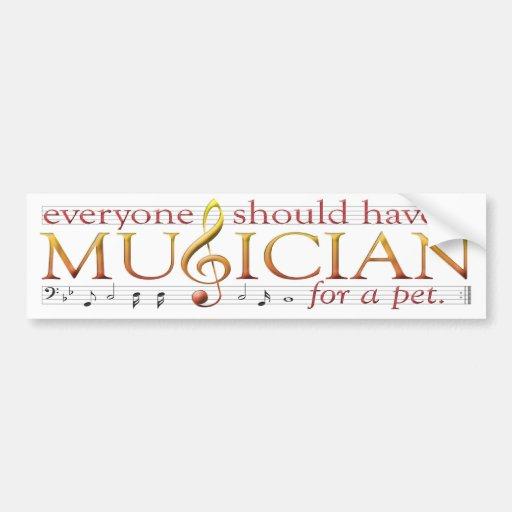 Pet Musician Bumper Sticker