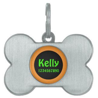 Pet name identification girl pet tag