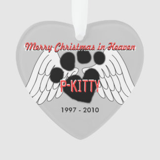 Pet Ornament -2 sided Merry Christmas in Heaven