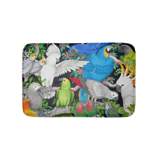 Pet Parrots of the World Bath Mat Bath Mats
