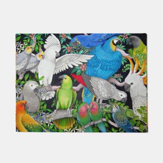 Pet Parrots of the World Doormat