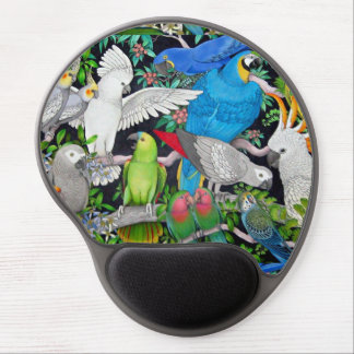 Pet Parrots of the World Gel Mousepad