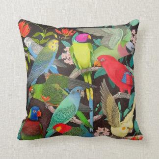 Pet Parrots of the World II Pillow