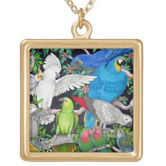 Pet Parrots of the World Necklace