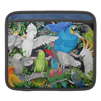 Pet Parrots of the World Rickshaw Sleeve Sleeves For iPads